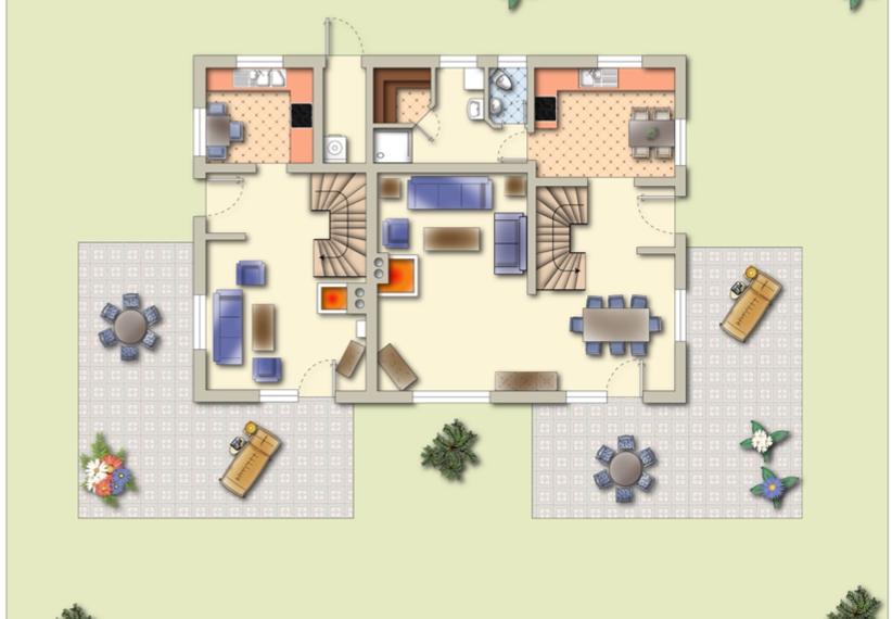 Grundriss Gartengeschoss
